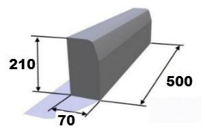 Бордюр 500х200х70 мм
